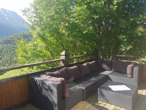 En balkong eller terrasse på Bakkeberg
