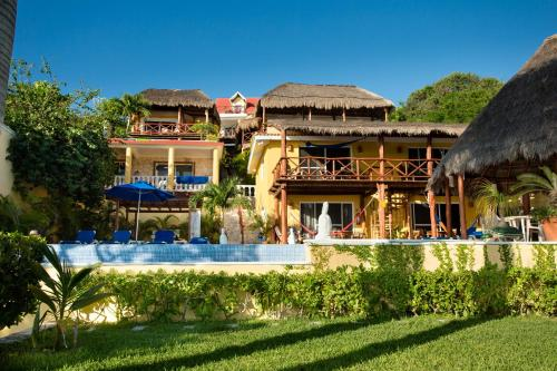 The swimming pool at or near Hotel La Joya Isla Mujeres