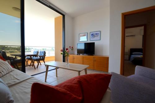 A seating area at Isabella One Bedroom