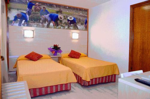 A bed or beds in a room at Tortosa Parc