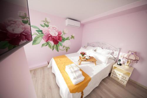 Кровать или кровати в номере Отель на Павелецкой