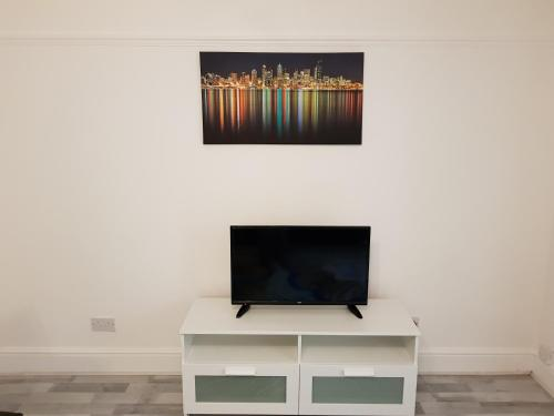A television and/or entertainment center at Basildon Crystal Lodge