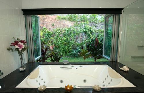 A bathroom at Jade Ridge