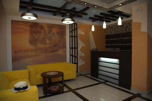 The lobby or reception area at Africa Hotel