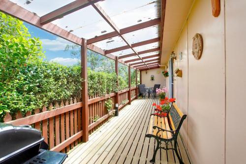 A balcony or terrace at Tamar River Retreat
