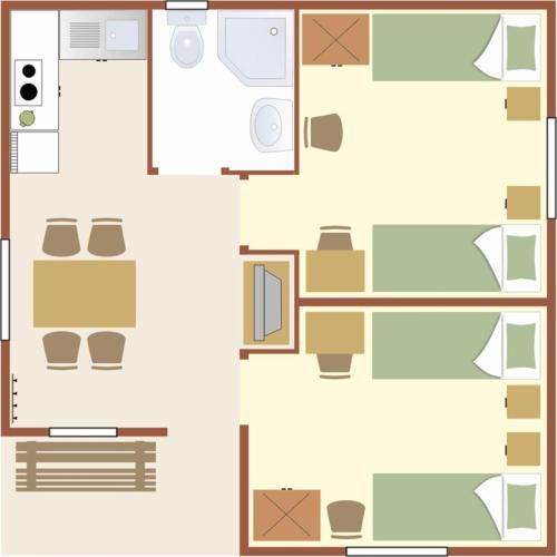 Plan piętra w obiekcie Camping Baltic