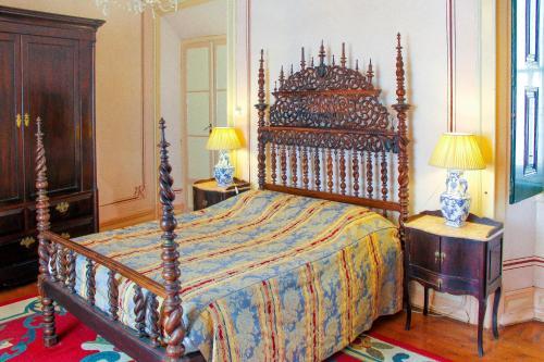 Uma cama ou camas num quarto em Casa De S. Tiago