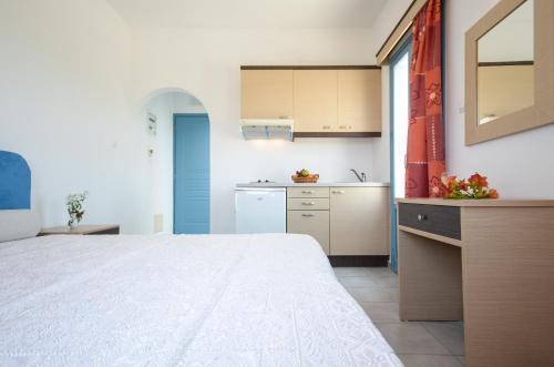 Η κουζίνα ή μικρή κουζίνα στο Apartments Naxos Camping