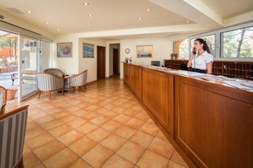 The lobby or reception area at Adriatiq Resort Fontana
