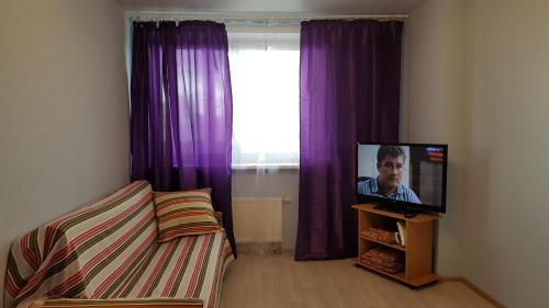 A television and/or entertainment centre at Apartment on Nosovikhinskoye shosse 27