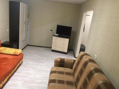 Гостиная зона в Apartment on Lenina 137