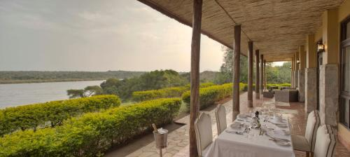 A restaurant or other place to eat at Paraa Safari Lodge