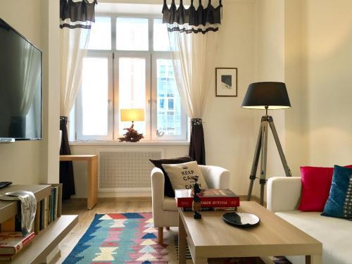 Гостиная зона в Apartment in Premier Palace