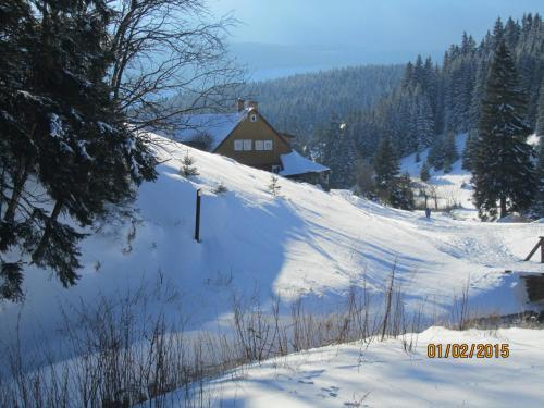 Horská Chata U Básníka v zimě