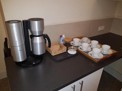 Zestaw do parzenia kawy i herbaty w obiekcie Apartament Secesyjny