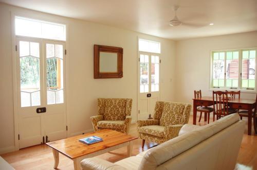 A seating area at Sweet Love - Byron Bay Hinterland