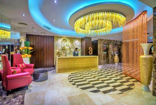 The lobby or reception area at The Raintree Dhaka