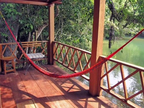 Un balcón o terraza de Campamento Rio Lacanja