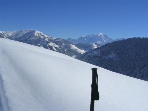Le Flocon des Aravis during the winter