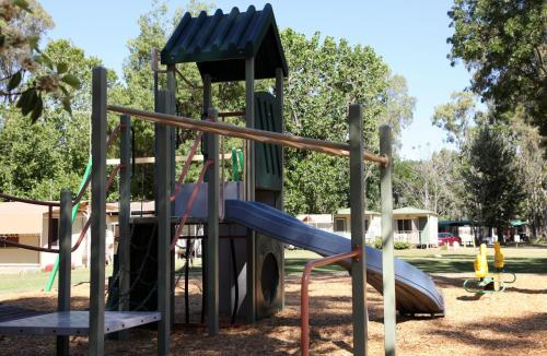 Children's play area at Cohuna Waterfront Holiday Park