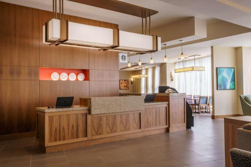 The lobby or reception area at Hyatt Place Houston Galleria