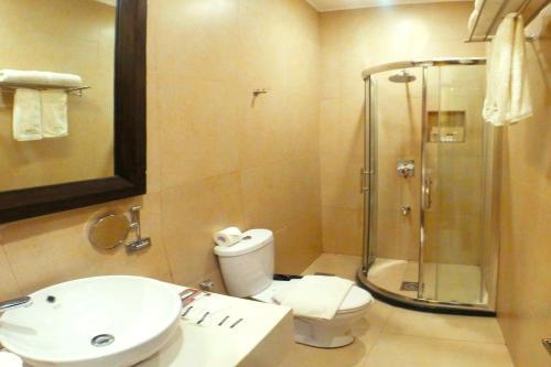 A bathroom at Palm Grass Hotel