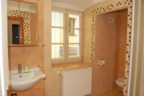 A bathroom at Penzion Markus