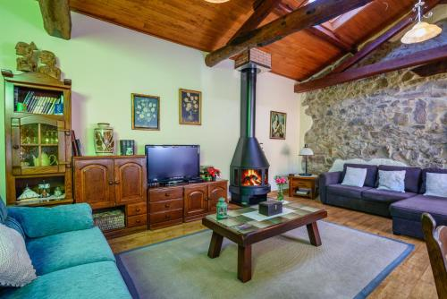 Zona de estar de Apartamentos Rurales Balcón Real Senda del Oso