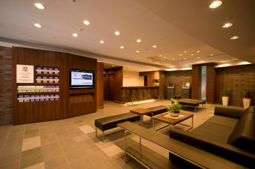 The lobby or reception area at Daiwa Roynet Hotel Shin-Yokohama