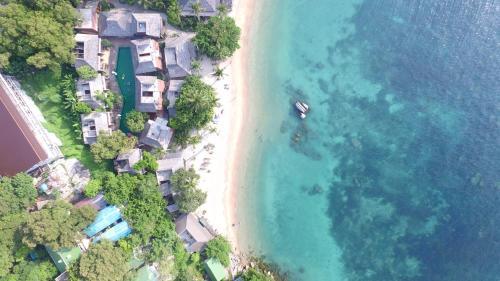 Koh Tao Beach Club a vista de pájaro