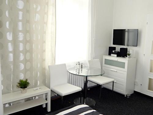 TV a/nebo společenská místnost v ubytování Apartments Ostrava Vítkovice