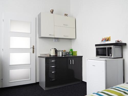 Kuchyň nebo kuchyňský kout v ubytování Apartments Ostrava Vítkovice