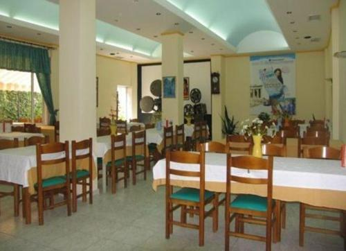 A restaurant or other place to eat at Hotel Orfeas
