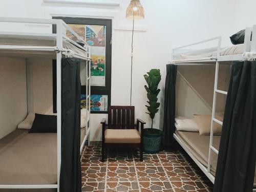 Giường tầng trong phòng chung tại S:House
