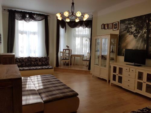 TV a/nebo společenská místnost v ubytování Apartment MarienBad