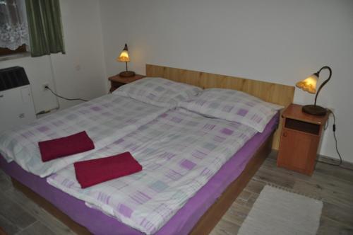 Postel nebo postele na pokoji v ubytování Privát Magdalena