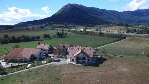 A bird's-eye view of EkoTurizem Hudičevec