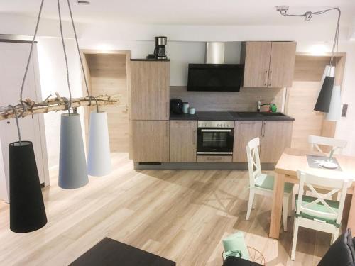 Küche/Küchenzeile in der Unterkunft Ferienwohnung Saalhausen Sauerland
