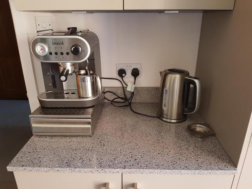 Coffee and tea-making facilities at Latchmead Bed & Breakfast