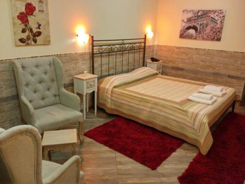 Ένα ή περισσότερα κρεβάτια σε δωμάτιο στο Αστρομέρια
