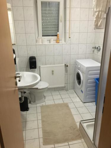Ein Badezimmer in der Unterkunft Hotel Friesenhof