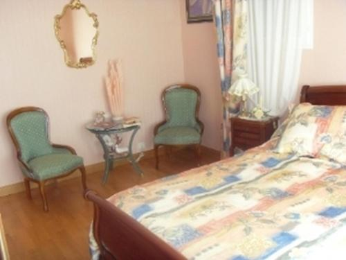 A bed or beds in a room at Chambre D'Hotes Miraflores