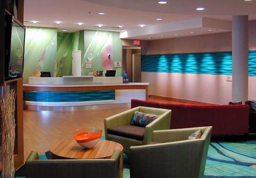 The lobby or reception area at SpringHill Suites by Marriott Las Vegas North Speedway