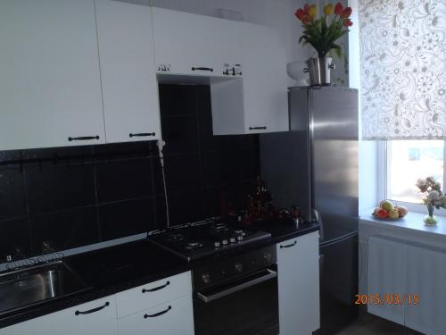 A kitchen or kitchenette at Apartment on Lenina 9