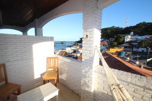 A balcony or terrace at Pousada Borakay