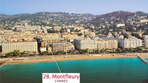 A bird's-eye view of Studio Cannes 5mn palais du festival