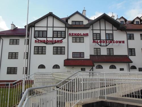 Budynek, w którym mieści się hostel