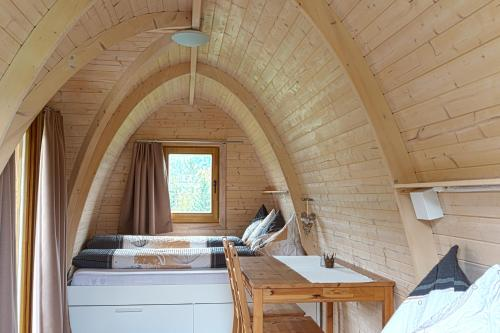 Ein Bett oder Betten in einem Zimmer der Unterkunft B&B Hofgenuss