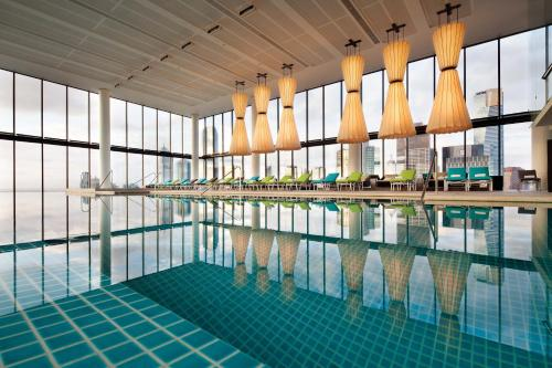 The swimming pool at or near Crown Metropol Melbourne