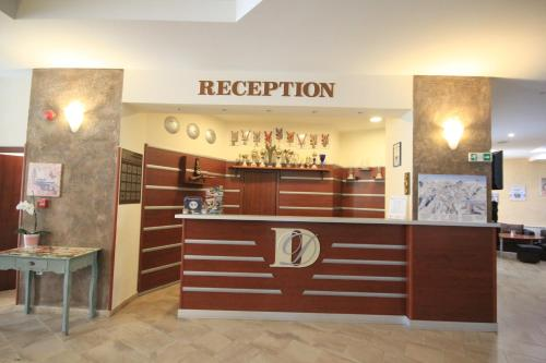 The lobby or reception area at Dafovska Hotel
